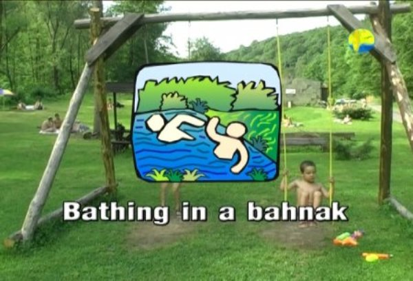 Bathing in a Bahnak - Naturist Freedom