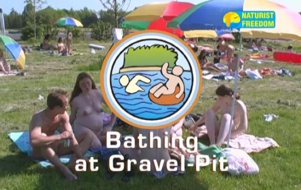 Bathing At Gravel Pit - Naturist Freedom