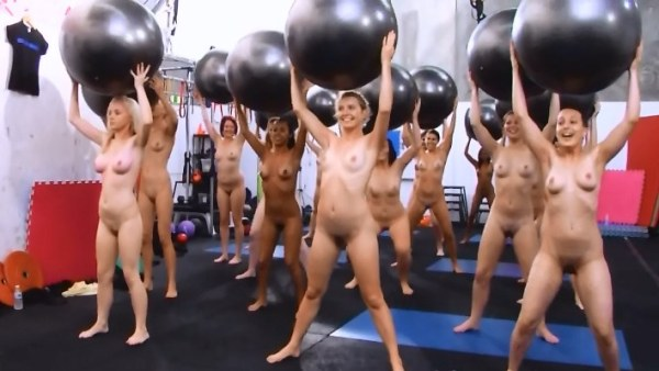 Young Nudist Fitball Girls [Nudism Video HD]
